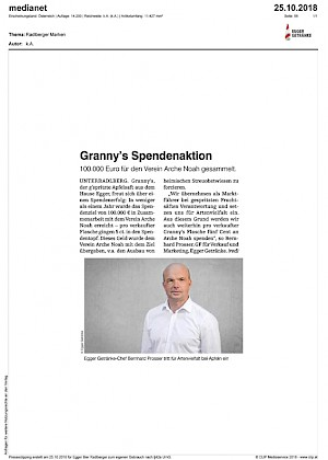 medianet - Granny's Spendenaktion